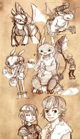 HTTYD - Sketches by sanoe