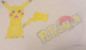 My first drawing of Pikachu EVER by finnfni