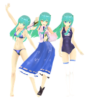 .: DL Series :. Montecore Edit Sanae Kochiya by Duekko
