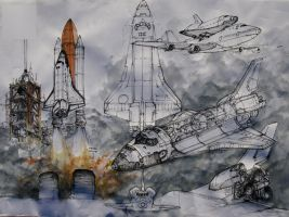 space shuttle by kecajpl