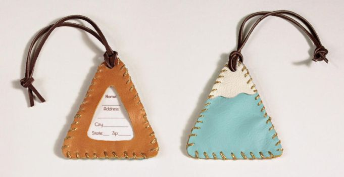 Mountain Luggage Tag by Madelei