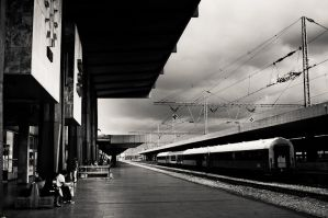 waiting at the station by torobala