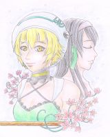 Atoli and Chigusa by silentclearlite