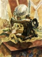 Sewing Machine Still Life (2005) by LaNora-84