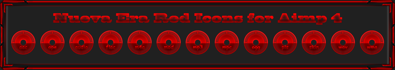 Nueva Era Red Icons by Agelyk for Aimp 4 by Agelyk