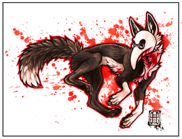 Plague Fox by CanisAlbus