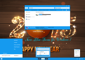 New-Blue 2015 Theme For Windows 7 by cu88