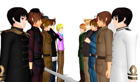2P VS 1P by hetalia-fanart