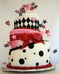 Topsy Turvey Birthday Cake by pinkcakebox