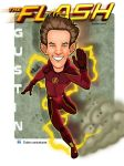 Grant Gustin Caricature as the Flash by edwinj22