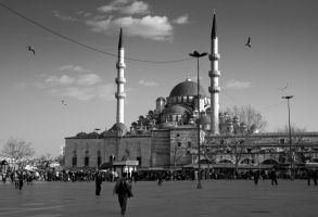 Mosque BandW by lhauert