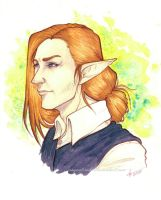 Zak -watercolor headshot- by raquel-cobi