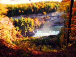 tiltshift falls by Moonlesswind