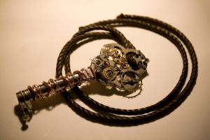 - Steampunk Key Necklace - by IskaDesign