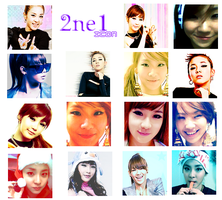 2NE1 Icons by TsukiNita