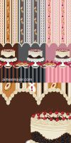 Black Forest Cake Fabric by aimeekitty