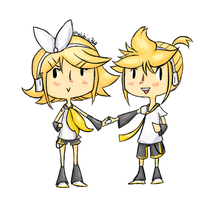 Vocaloid - Rin and Len Kagamine by abbic314