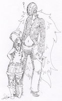 Bonney and Killer sketch by Squidbiscuit