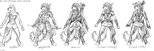 2014-2015 Jenn Anthro design concepts (sketches) by AgentWhiteHawk