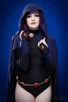 Raven Cosplay with Cloak by AmberLaRoux