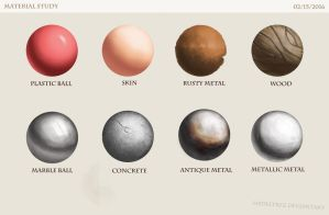 Material studies by Hedeltrez