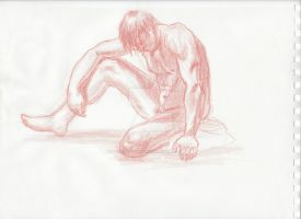 nude male colored pencil by spencerjoh7