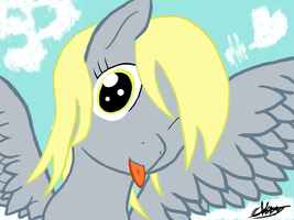Cheeky Derpy by Omaden