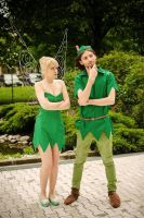 Tinker Bell and Grown-up Peter Pan by kittyliciousme