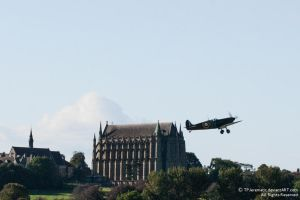 Spitfire and Lancing Collage Cathedral by TPJerematic