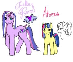 Bella Poema and Athena by Joint-ParodiCa