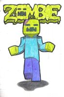 MINECRAFT Zombie! by Stealthfang