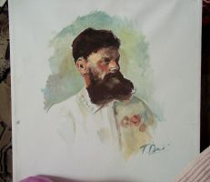 Russian man - painting in acrylic by Raimondsy