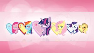 Valentine`s Day - Wallpaper (MLP FIM) by nicolaykoriagin