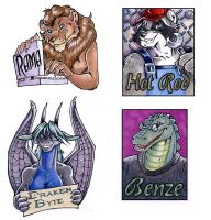 Rama and more Badges by lady-cybercat