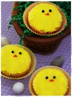 Baby Chick Cupcakes by theresahelmer