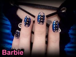 Corset Nails by BarbieNailArt