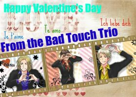 Bad Touch Trio  Happy Valentines Day by PIRIHETALIA12