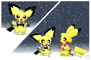 Pichu's First Snow by pichu90
