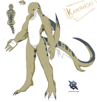 Karcharias the shark by ShadowScarKnight
