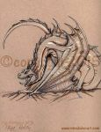 Toned Paper Wyvern Dragon Game of Thrones Style by The-GoblinQueen
