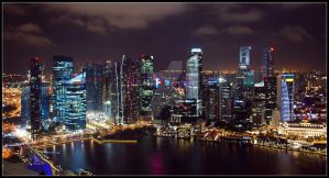 Singapore by Night by jadekin