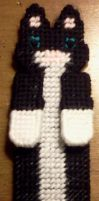 Tuxedo Cat Bookmark - Front by Sylvey