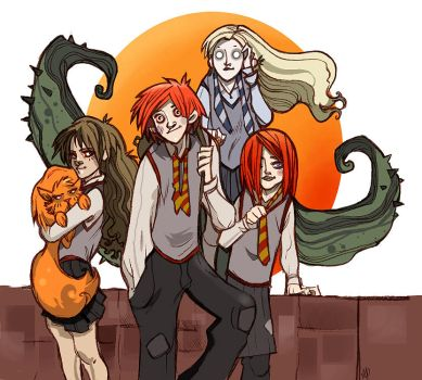 weasley and girls -no spoiler- by Sally-Avernier