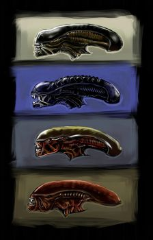 Aliens heads by harry-osborn