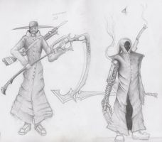Scarecrow Jed and  Assassin by TwistedBobbay