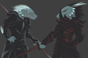 Drizzt+Tor by pyrogina