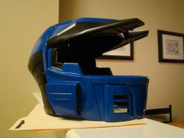 Halo 3 MKV Caboose helmet  side view WIP by Hyperballistik