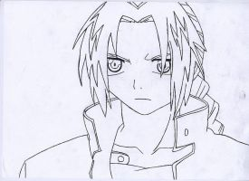 Edward Elric - Lineart by Luna-Rox