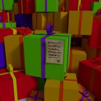Mountain of Gifts and a notice from santa by Voleuro