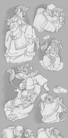 Amy and Ohmid Doodles- Pocket Sized Princess by GreenOverGreen